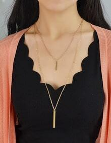 Gold Double Layels Chain Necklace