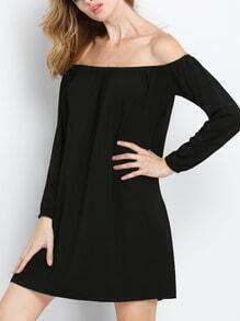 Black Long Sleeve Off The Shoulder Dress
