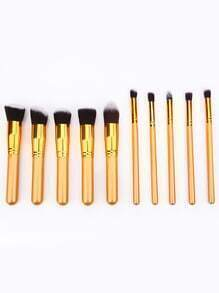 10pcs Professional Makeup Set Brushes Tools-Gold