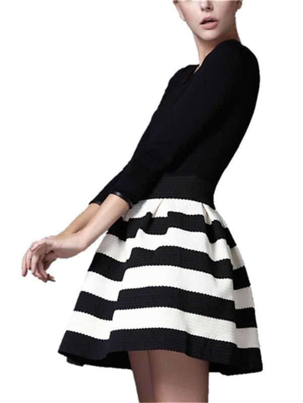 Find black and white horizontal stripe dress at ShopStyle. Shop the latest collection of black and white horizontal stripe dress from the most popular.