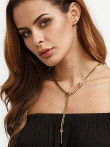 Antique Brass Arrow Pendant Necklace
