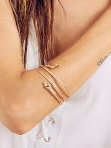 Golden Snake-shaped Arm Cuff