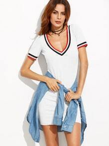 Varsity Striped Tee Dress