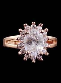 Gold Diamond Sun Ring
