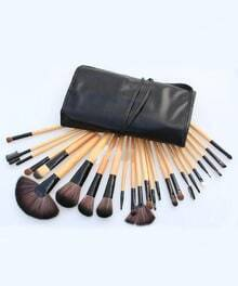 24pcs Professional Cosmetic Makeup Brush Set with Black Bag