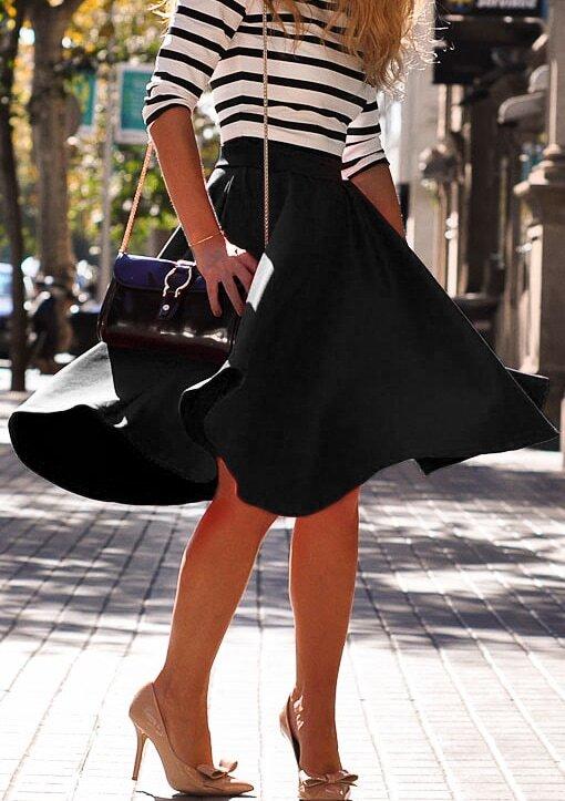 Resultado de imagen para falda alta