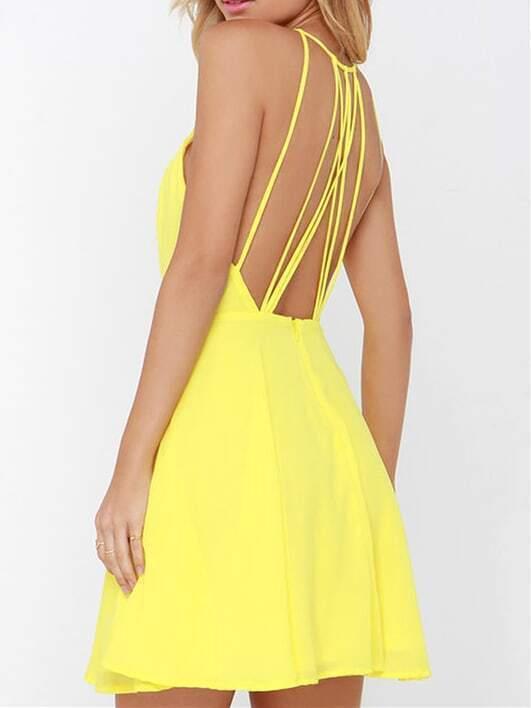 Spaghetti Strap Backless Dresses