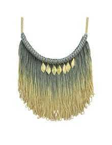 Long Tassel Chains Necklace