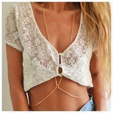 Fashion simple body necklace