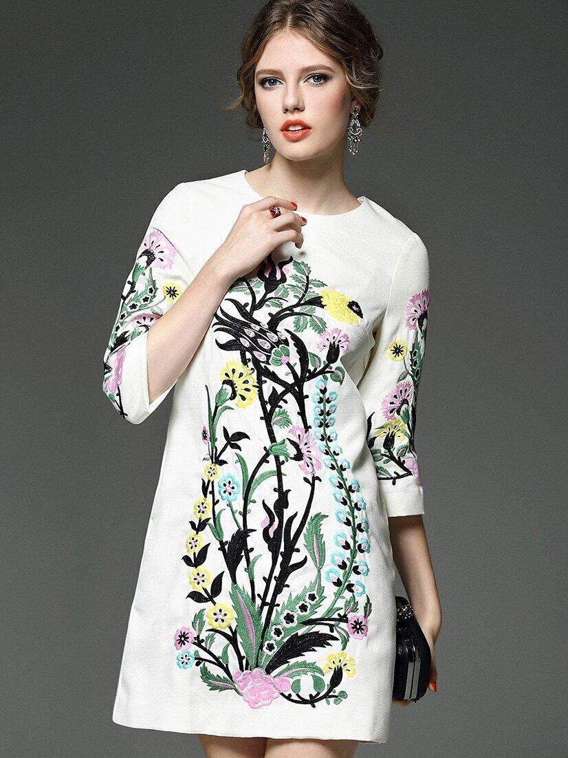 Модные платья 2017 с вышивкой