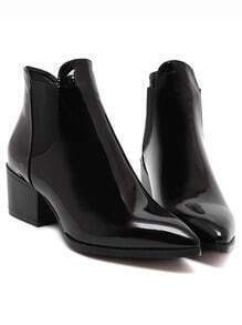 Black Point Toe Stretch Side Inserts Ankle Boots