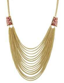 Red Multi Chain Necklace for Women