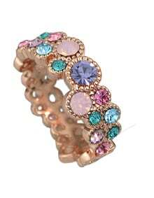 Rose Rhinestone New Design Ladies Finger Ring