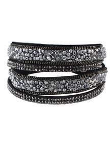 Silver Beads Wrap Bracelet