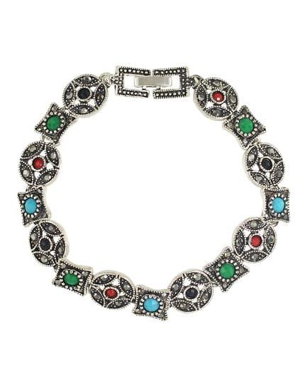 colorful imitation gemstone wrap bracelet emmacloth