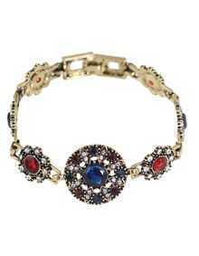Atgold Rhinestone Wrap Stone Bracelet