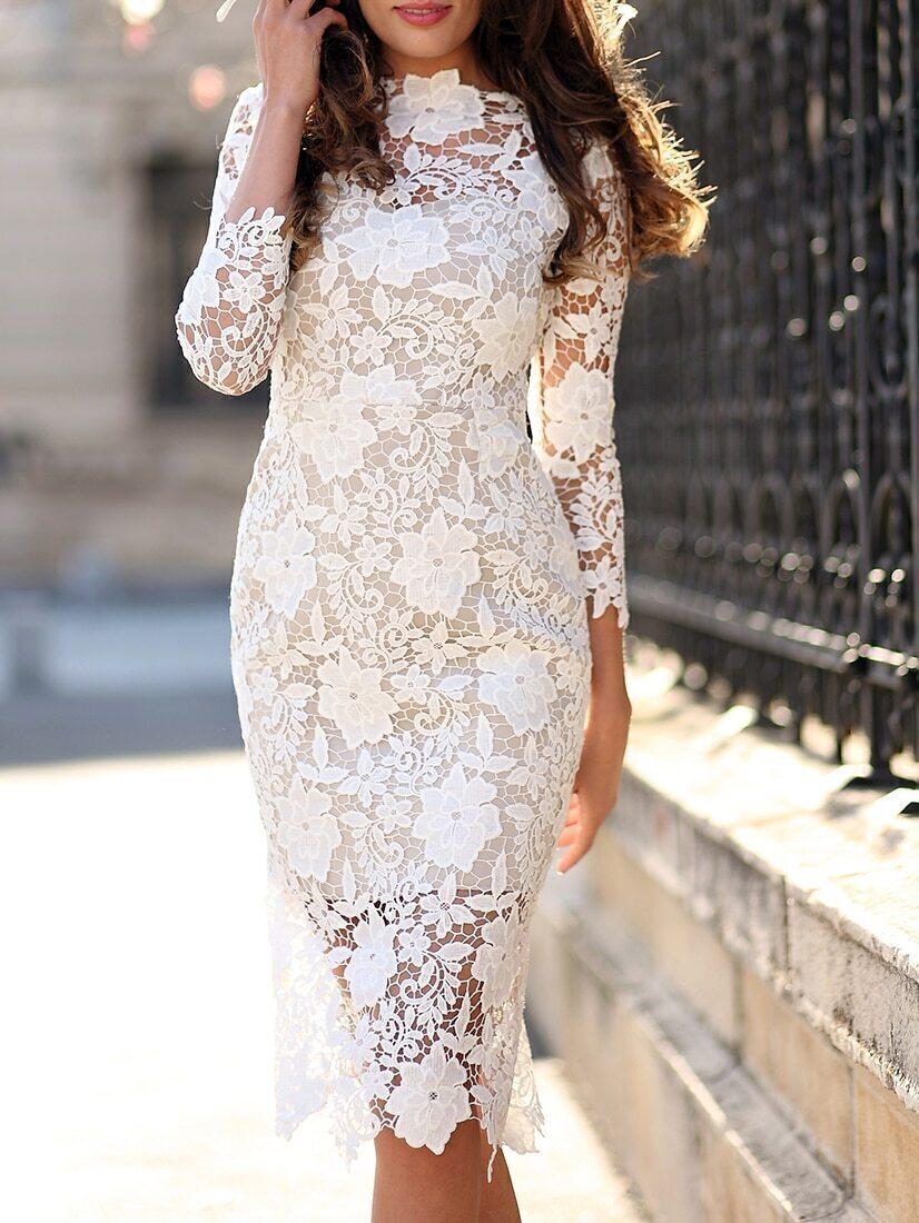 Белое Кружевное Платье Купить В Москве