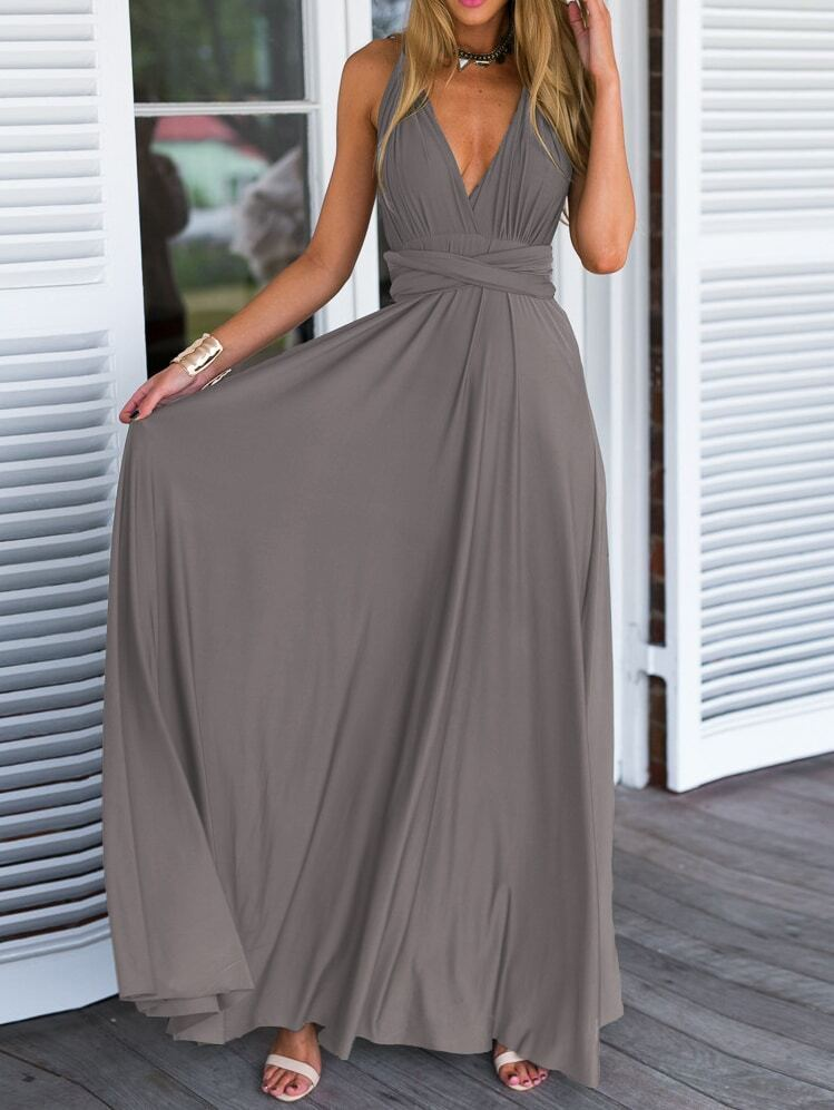 V Neck Maxi Dresses