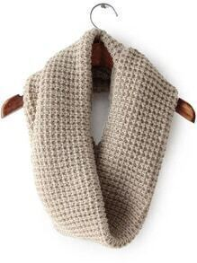 Beige Casual Knit Scarve