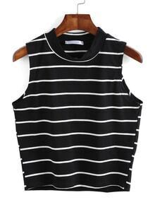 Striped Black Tank Top