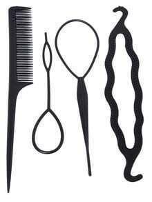 Black Comb Pull Hair Pins U-Shaped Clip Hairpin Hook Set