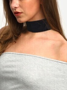 Wide Plain Velvet Choker