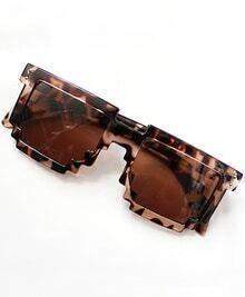 Leopard Geometric Sunglasses