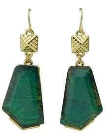 Green Stone Drop Earrings