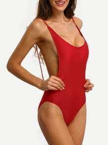 Backless One-Piece Swimwear