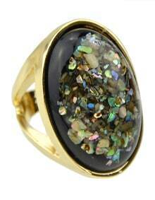 Gold Plated Gemstone Big Ring