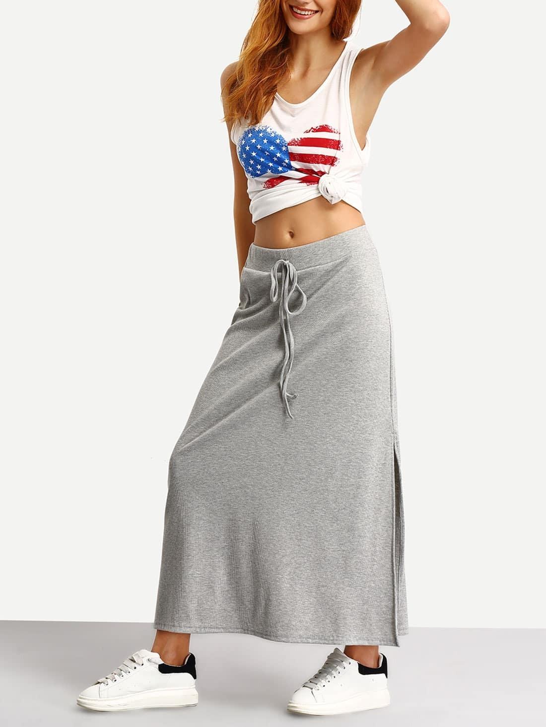 Long Jersey Skirt - Skirts