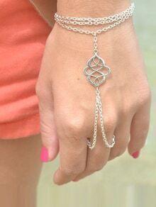 White Metal Auspice Hand Chain