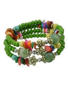 Green Lucky Bead Bracelet