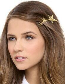 Gold Plated Star Shape Hair Clips