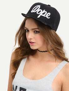 Letter Embroidered Snapback