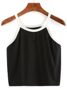 Contrast Trim Crop Cami Top