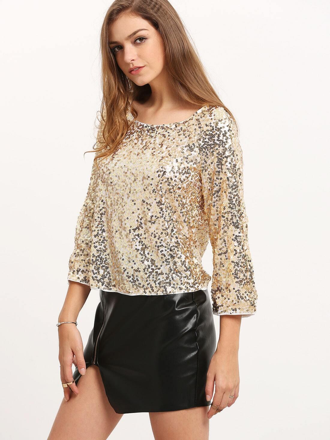 Блузка Блестящая С Доставкой
