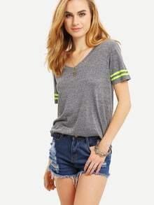 Light Grey Short Sleeve Basic T-shirt