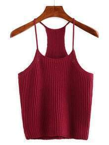 Red Spaghetti Strap Tank Top