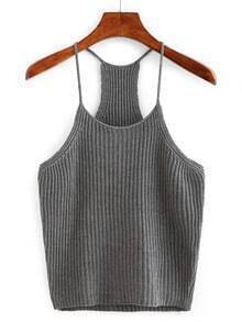 Grey Spagheti Strap Tank Top