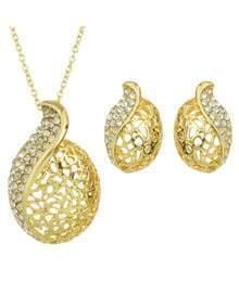 Rhinestone Fashion Jewelry Set