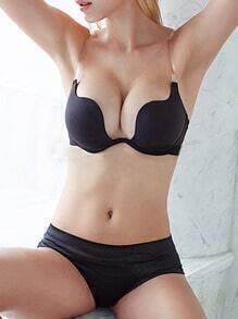 Black Crisscross Push-Up Bra