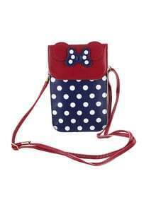 Navyblue Cute Pu Leather Card Bag