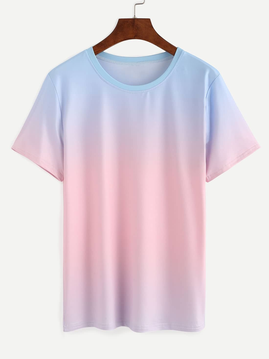 Blue Pink Ombre T-shirt EmmaCloth-Women Fast Fashion Online