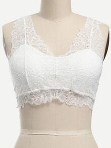 Lace Racerback Bralet - White