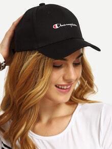 Black Letter Print Baseball Cap