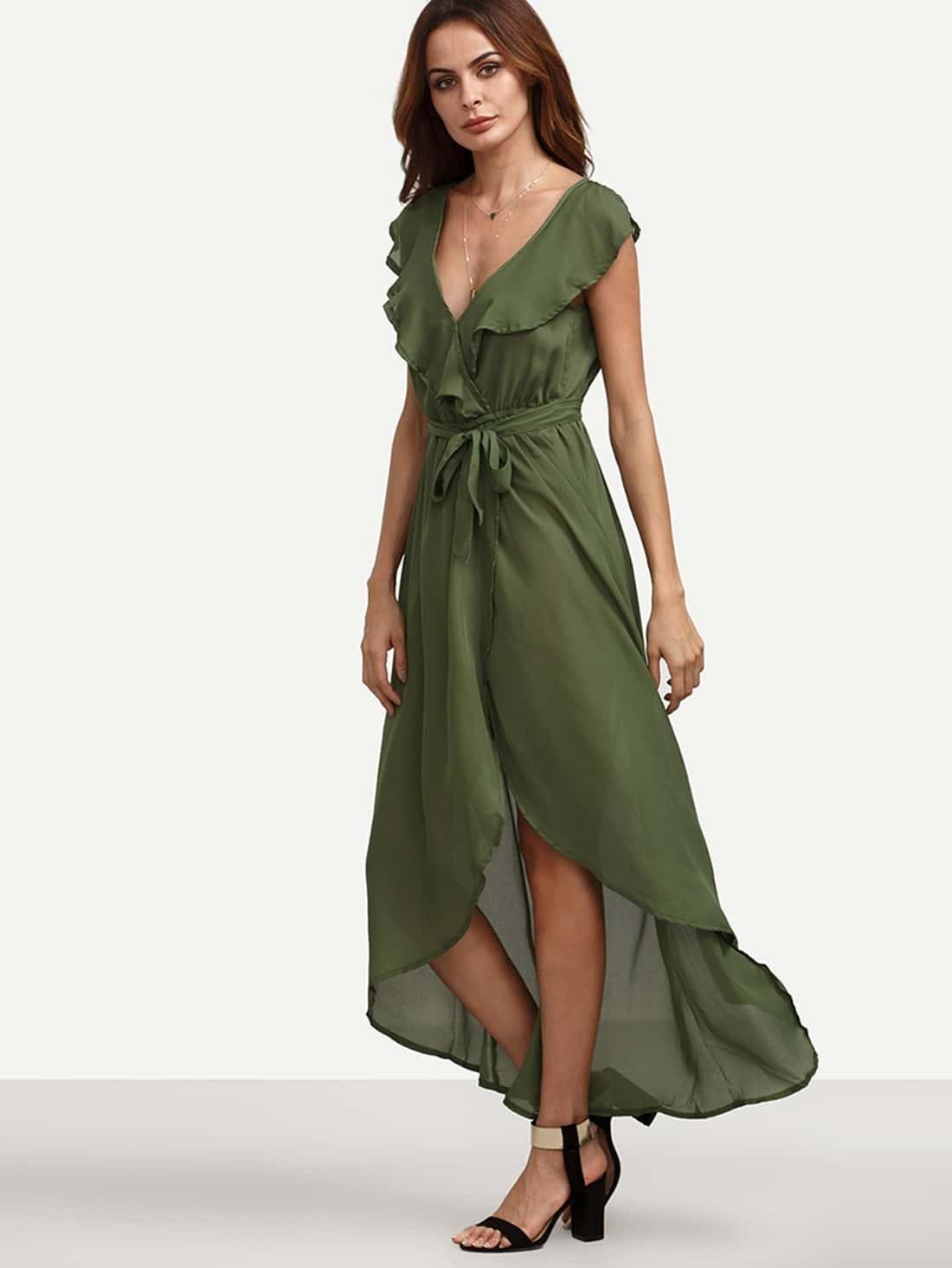 Шифоновое Платье С Воланами Купить