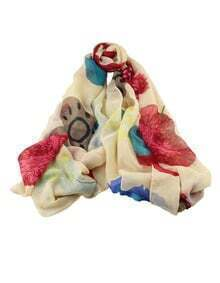 Colorful Printed Long Scarf