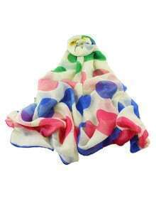 Voile Colorful Big Spot Long Scarf