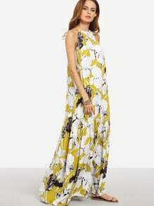 Multicolor Floral Sleeveless Maxi Dress